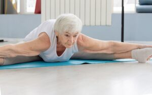 Very Fit Senior doing Stretching